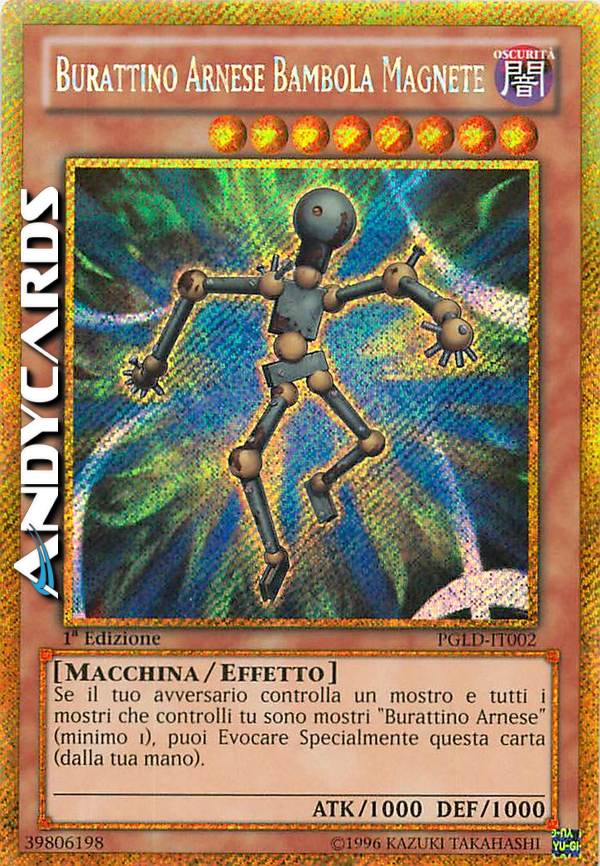 - BURATTINO ARNESE BAMBOLA MAGNETE