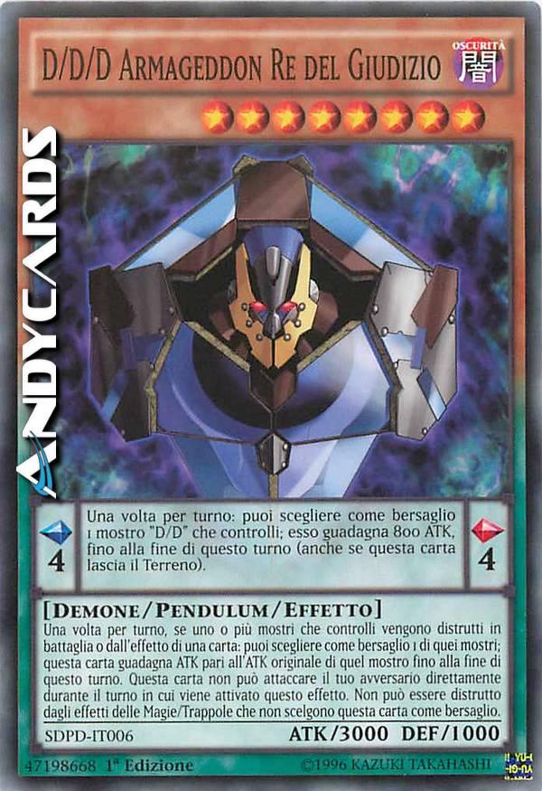 - D/D/D ARMAGEDDON RE DEL GIUDIZIO