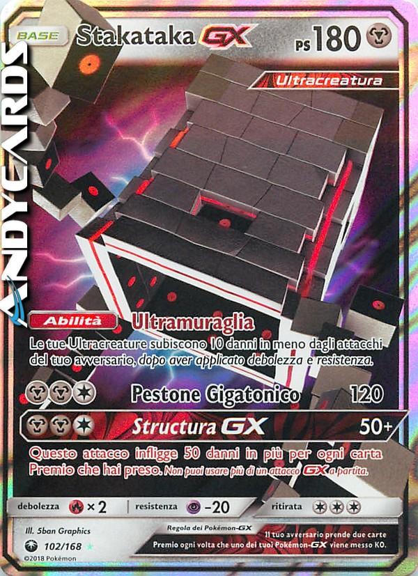 Carta Pokemon STAKATAKA GX 102//168 TEMPESTA ASTRALE IN ITALIANO VEDI ALTRE CARTE