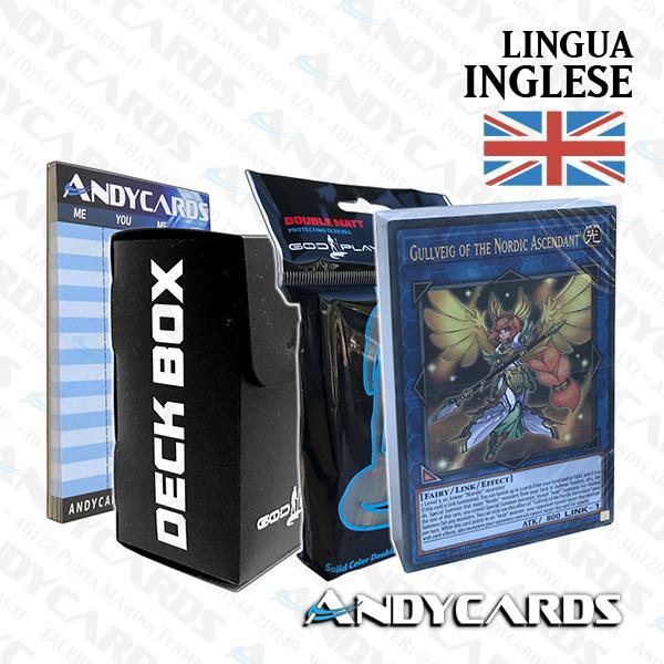 Sleeves God-Player Andycards Deck Eroe Leggendario Aesir Nordic in Italiano Deck Box God-Player Segnapunti Mazzo Yugioh