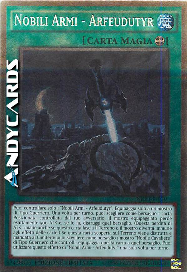Nobili Armi del Destino ☻ Platino ☻ NKRT IT022 ☻ YUGIOH ANDYCARDS