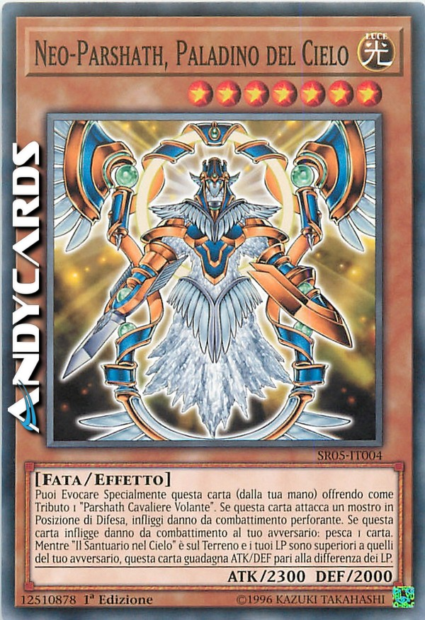 PARSHATH ARCI-CAVALIERE VOLANTE SACRO  Ultra Rara in Italiano SR05-IT001 YUGIOH